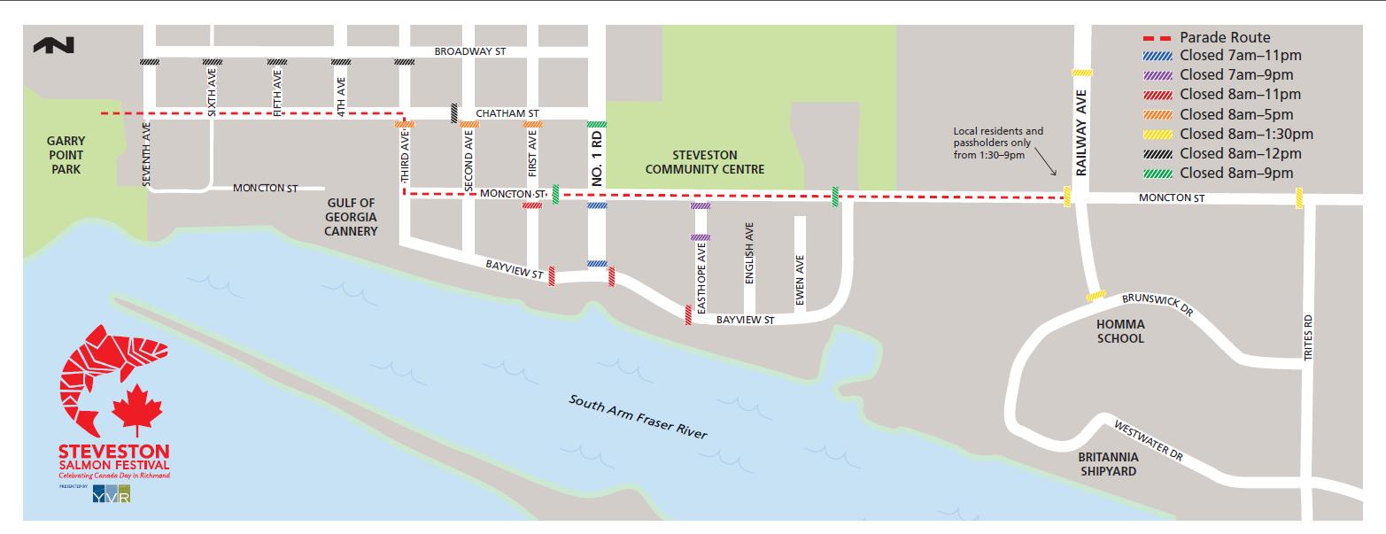 Road Closures Map - Steveston Salmon Festival